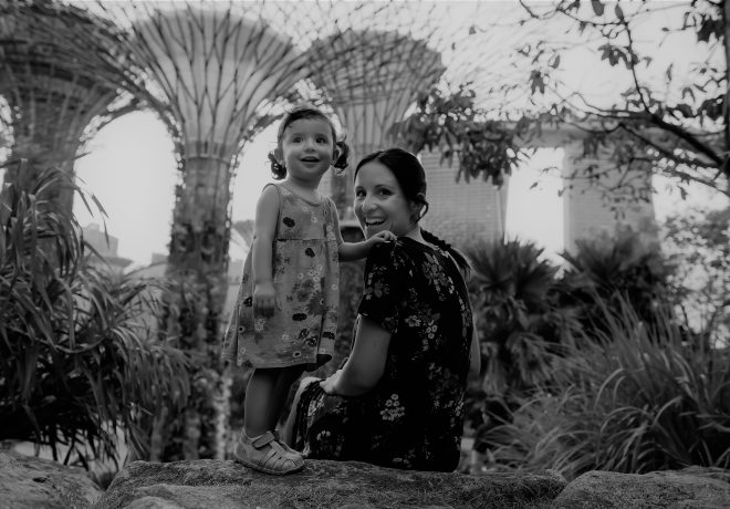 Singapore gardens, mother and daughter